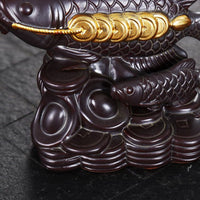 Lucky Coin Feng Shui Fish Backflow Incense Burner - Black Cat Coven Couture