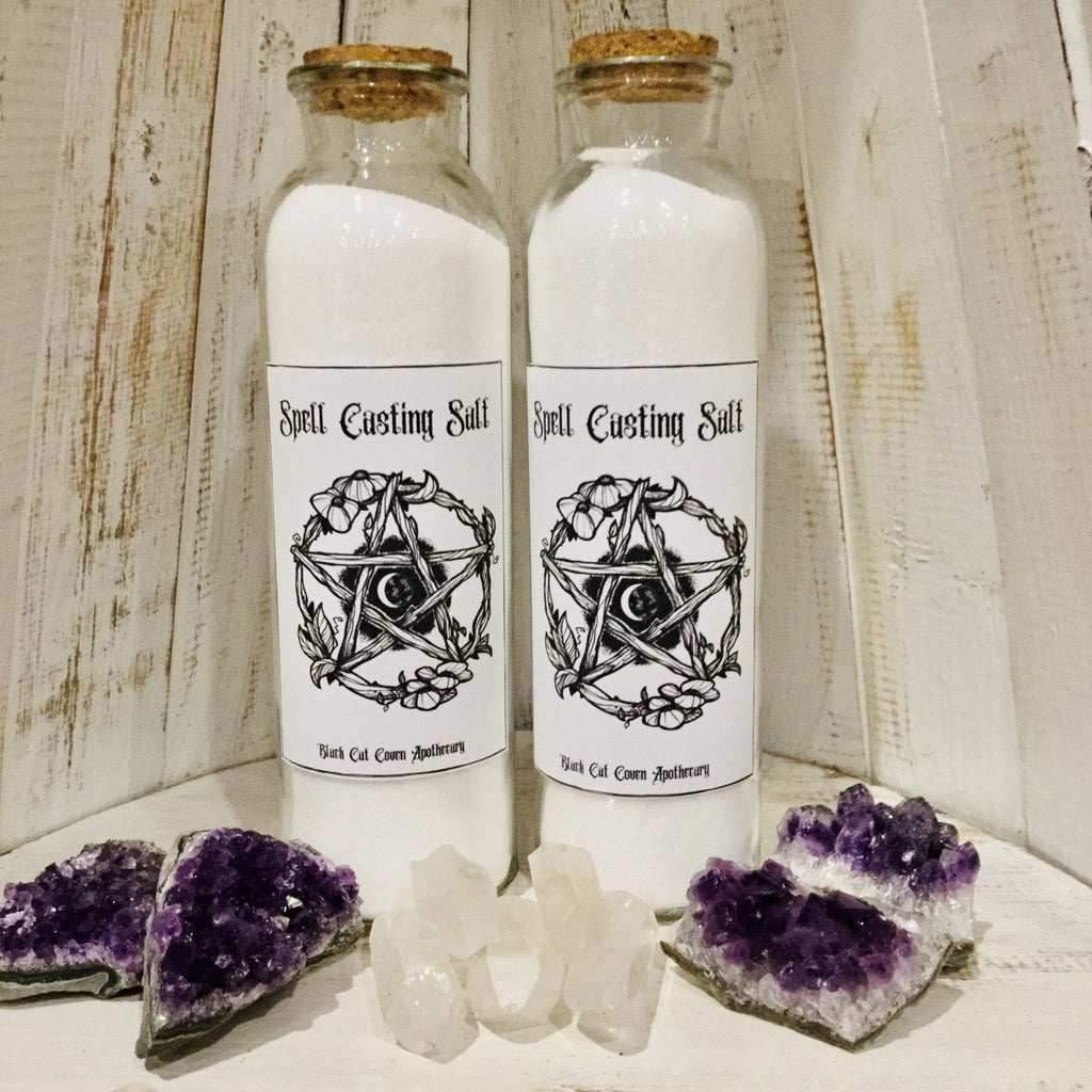 Spell Casting Witches Salt - Black Cat Coven Couture