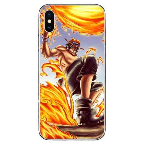 coque iphone one piece ace - Luffy store®