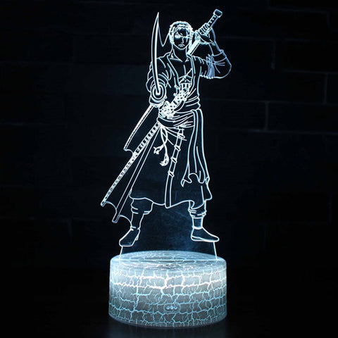 lampe acrylique one piece zoro - Luffy store®