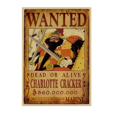 Poster One piece wanted cracker - Luffy store®