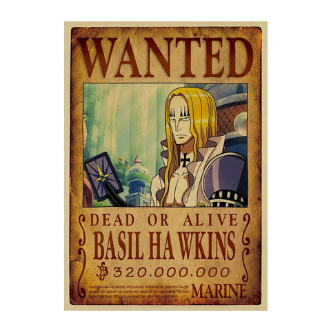Poster Wanted Basil Hawkins - Luffy store®