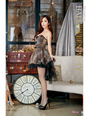 Lingeriecats Halloween Sexy Leopard Cat Kitty Party Dress Costume For Girl - LingerieCats