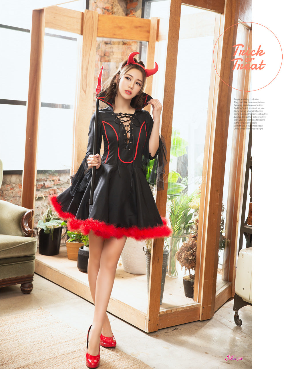 Lingeriecats Halloween Sexy Black Devil Demon Costume For Girl - LingerieCats