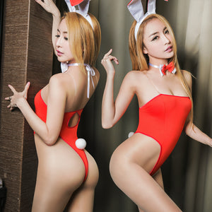 Lingeriecats Spice Girls ! Sexy Charming Red Bunny Cosplay Teddy Costume - LingerieCats