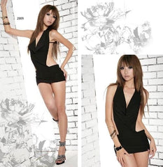 Black Backless Clubwear Dress - LingerieCats