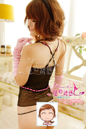 Sexy Open Front Black/Pink Lining Corset Lingerie - LingerieCats