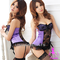 Tempting Sheer Corset Set