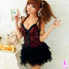 Cute girl! Party Corset Costume - LingerieCats