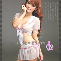 Dreamy First Love! 3 Pcs Student Costume - LingerieCats