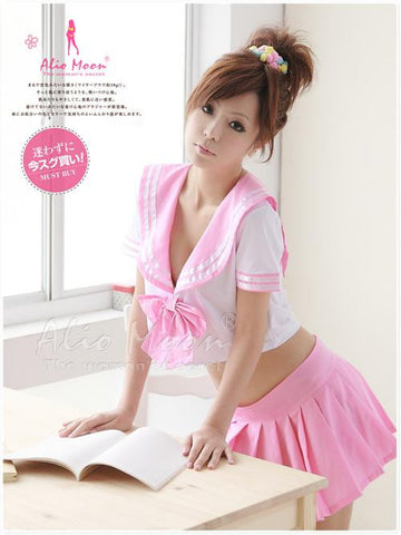 Cute School Pink Uniform Costume - LingerieCats