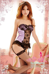 Tempting Sheer Corset Set - LingerieCats