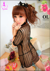Seductive Secretary 2 Pcs Blouse Costume
