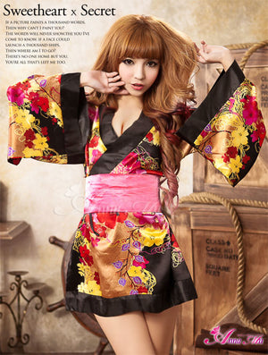 Lingeriecats Sexy Luxury Japanese Kimono Outfit Cosplay Costume Set - LingerieCats