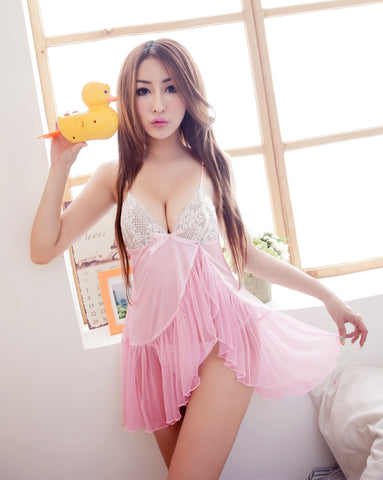 Lingeriecats Hot Halter-neck Rayon Chemise Set