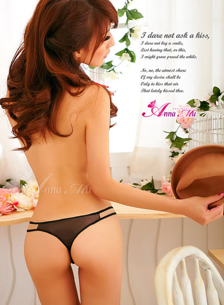 Stylish Seduction Bikini 3 Pcs Crotchless Panties Set