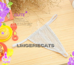 3 Pcs Cutie Polka Dots Maid Bikini Top Set