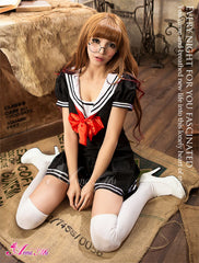 Lingeriecats Sailor Style School Girl Uniform Cosplay Costume Set - LingerieCats