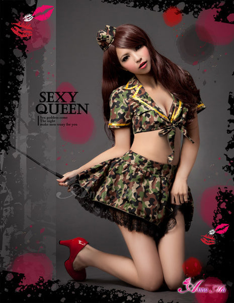 Lingeriecats Sexy Camouflage Amry Cosplay Costume Set