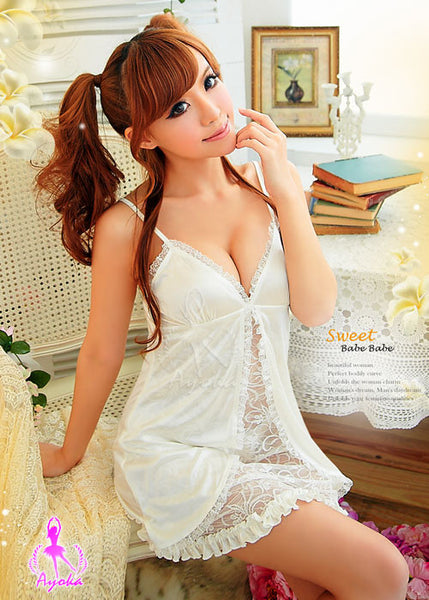 Appealing Rayon Chemise Set - LingerieCats