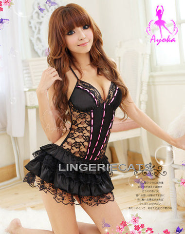 Lingeriecats Sexy Playful Bunny Girl Outfit Cosplay Costume Set