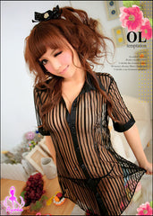 Seductive Secretary 2 Pcs Blouse Costume - LingerieCats