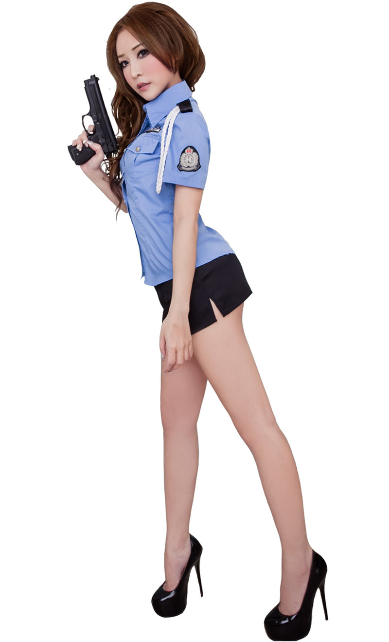 LINGERIECATS Sexy Tempting policeman outfit 2pcs cosplay costume set. - LingerieCats