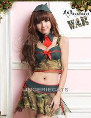 Sexy Army 3 Pieces Costume, Halloween Costume, Army Costume, Lingerie online store, Military Costume, Lingeriecats