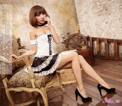 Lingeriecats Sexy lovely French Maid Outfit Cosplay Costume Set - LingerieCats