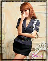 Lingeriecats Sexy Sexy Police Officer Outfit Cosplay Costume Set