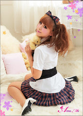 Lingeriecats Sexy Youthful Frisky School Daring Uniform Cosplay Costume Set - LingerieCats
