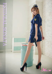 Lingeriecats Sexy Navy Blue Handsome Police Outfit Cosplay 3pcs