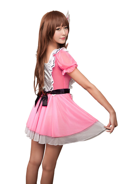 LINGERIECATS Pinky Alice 2pcs Maid Outfit Cosplay Costume Set  (Free Sport Pant Gift) - LingerieCats