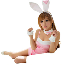 LINGERIECATS Sexy Classic 4pcs Bunny Girl Outfit Cosplay Costume Set