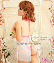Sweet Beauty Open Back 2 Pcs Babydoll - LingerieCats