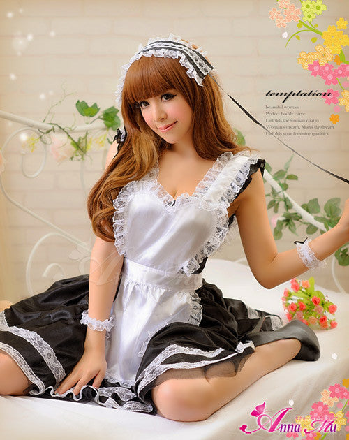 Lingeriecats Sexy Tender Chary Maid Outfit Cosplay Costume Set - LingerieCats