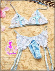 Lingeriecats Dreamy Sexy Night?I 4 Pcs Open Cup Bikini Top Set - LingerieCats