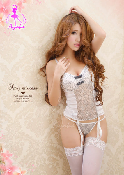 Lingeriecats Sexy Loverly Seductive Sweet 4Pcs Corset Set