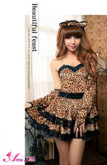 Lingeriecats Sexy Liopard Vivid Kitty Party Animal Costume - LingerieCats
