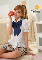 Lingeriecats Sexy Adorable School Girl 3pcs Cosplay Costume Set (Discontinued)