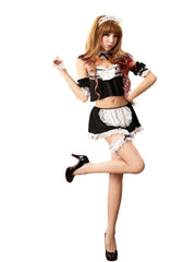 LINGERIECATS  Cheerleader Maid Outfit Cosplay Costume Set (Free Sport Pant Gift)