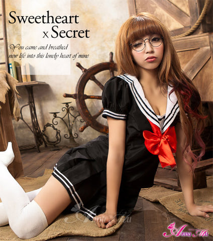 Lingeriecats Sailor Style School Girl Uniform Cosplay Costume Set
