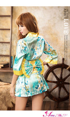 Lingeriecats Sexy Summer Breeze Japanese kimono outfit cosplay costume set.