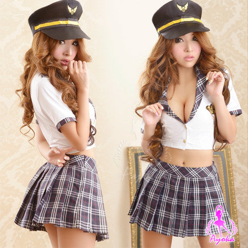 Lingeriecats Sexy Tempting Policeman Costume 3Pes - LingerieCats