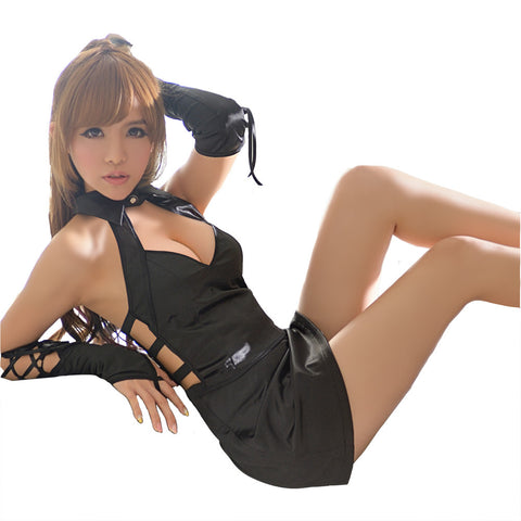 LINGERIECATS Sexy Sexy Black Race Queen Cosplay Costume Set