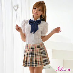Lingeriecats Sexy Adorable School Girl 3pcs Cosplay Costume Set (Discontinued) - LingerieCats