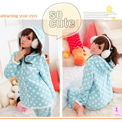 Baby blue Hooded Pajama