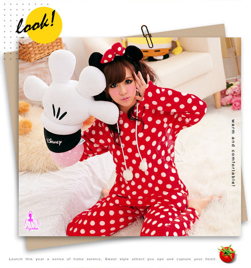 Red Minnie Pajama - LingerieCats