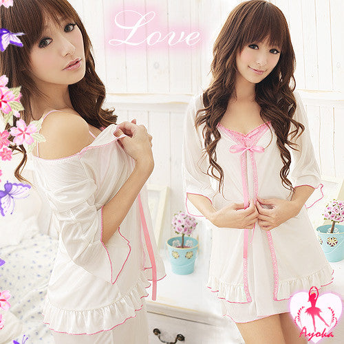 Adorable Rayon Sleepwear Robe - LingerieCats