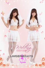Enchanting Bridal Set, Sexy Bridal Costumes, Asian Lingerie, Japanese Lingerie, Lingeriecats, Halloween Costumes,